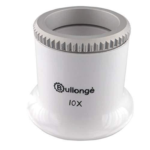 Uhrmacher-Kontroll-Lupe BULLONGÈ TB Pearl-White 10x für die Uhrenreparatur