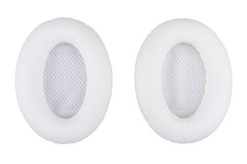 Aminori - Replacement Earpads Ear Cushion for Bose Quiet Comfort 15, 2, 25, Ae2, Ae2i Headphones (White)