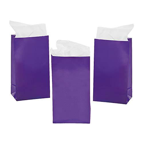 Fun Express Mini bolsas de regalo de papel morado (2 docenas) –...