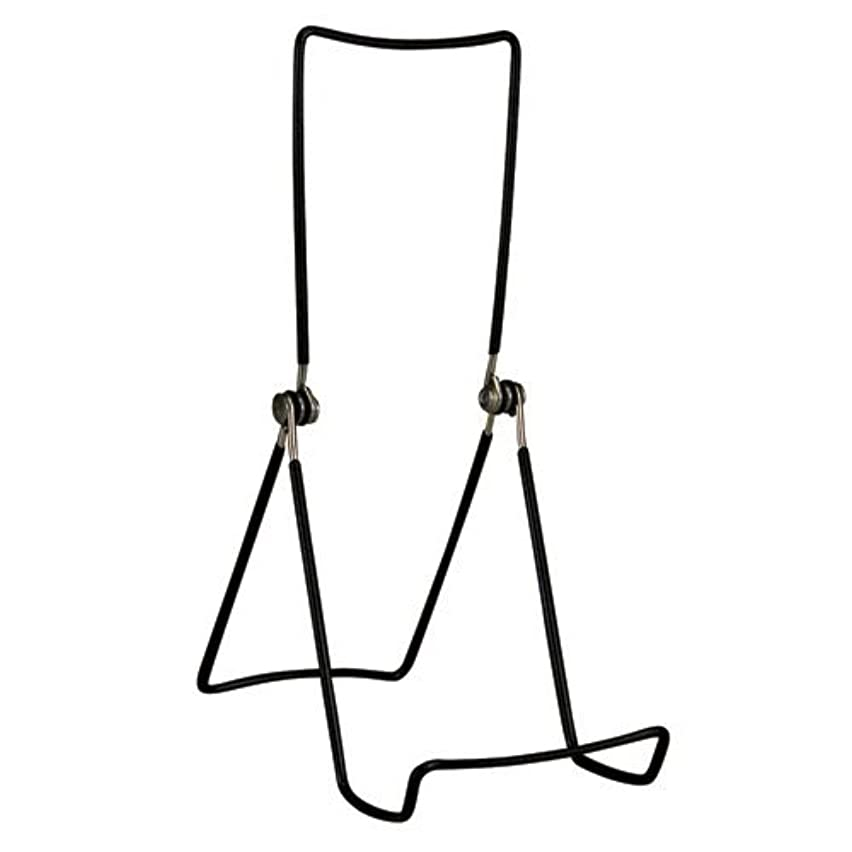 GIBSON HOLDERS 6AC 3-Wire Display Stand with Deep Edge, Black, 4-Pack