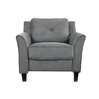 LifeStyle Solutions Collection Grayson Micro-fabric Chair, 35.43″x 32″x 32.68″, Dark Gray