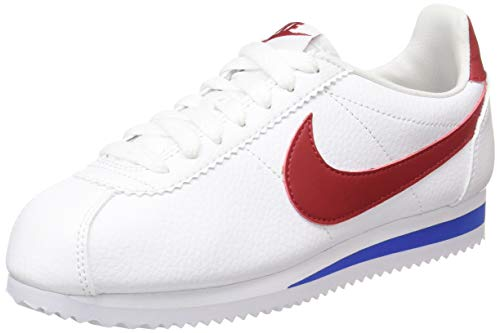 Nike Classic Cortez Leather, Scarpe Running Bambino, Bianco (White/Varsity Red-Varsity Royal 154), 36.5 EU