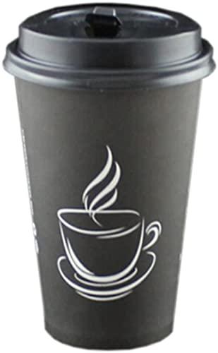 50 Unidades Taza de café de Papel de Cubierta aislada de 16 onzas 1 Taza de Papel de café