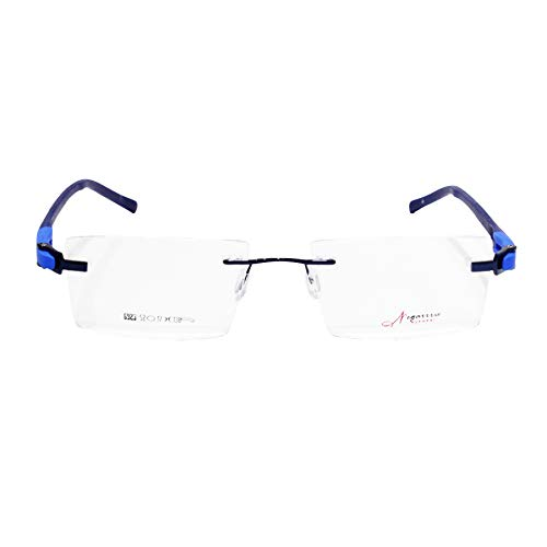 Redex Anti-reflective Rectangular Rimless Spectacle Frame With Extra Stick