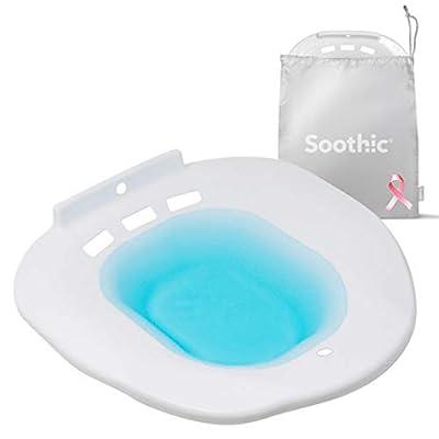 Soothic Sitz Bath for Toilet Seat, Postpartum, Hemorrhoid Treatment, Yoni Steam Kit, Postpartum Essentials, Bidet, Yoni Toilet Seat, Fits Elongated or Round