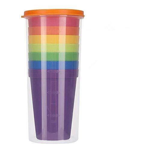 Binnan Vasos plástico 8 Piezas, Sin BPA, Colorido, Reutilizable, inastillable, Duro, vajilla, Vasos de Fiesta, Vaso de plástico Son irrompibles