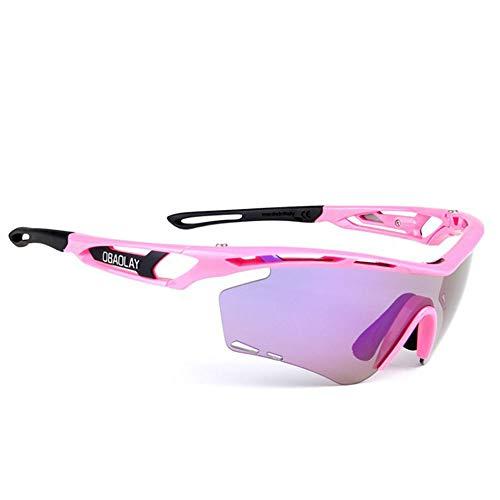 Gafas Ciclismo Gafas deportivas gafas de sol polarizadas diseño de cuadro de la bicicleta for los hombres y las mujeres ligeras de dos colores intercambiables lente 8 de peso Ligero a Prueba de V