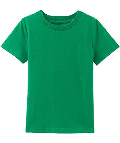 MOMBEBE COSLAND Camiseta Verde Bebé Niño Algodón Manga Corta (Verde, 12-18 Meses)