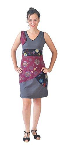 Tattopani Dames-mouwloos zomerjurk met bonte mandala borduurwerk en patroon