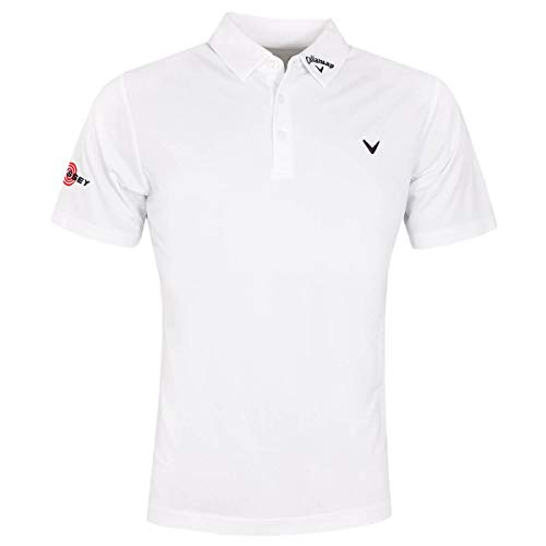Callaway Golf Odyssey Birdseye Soft Touch Polo de Golf pour Hommes Bright White Small
