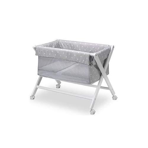 Pirulos 28900520 - Vestidura minicuna, diseño stars, algodón, color blanco y gris