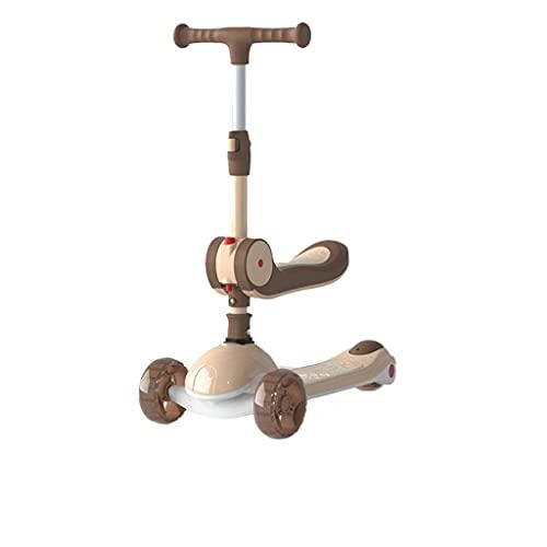 QIXIAOCYB Scooter One-Leed para niños de 2 a 6 años puede montar en un scooter plegable B (color: A)