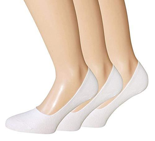 BestSale247 12 Paar Damen Mädchen Sneaker Socken Füßlinge Baumwolle 39-42 Füßlinge Weiß
