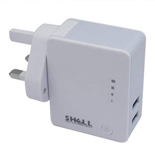 Kitechildhrrd - Cargador de pared con doble puerto USB (5 V, 1 A), color blanco
