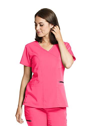 Grey's Anatomy GRST001 Women's Kim Princess Scrub Top Pink Pop 4XL