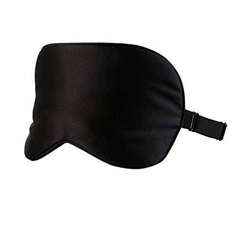 Silk Sleep Eye Mask, Travel Accessory, Sleeping Blackout Eye Shade, All-Purpose Blindfold Face Cover With Single Strap Easy-To-Adjust Ergonomic Design, Black