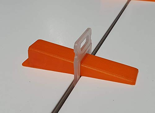 Zuglaschen Nivelliersystem Verlegen Fliesen Nivellierhilfe Levello 2mm Verlegehilfe f/ür Fliesen H/öhe 3-12 mm praktisch geschenk 400 St/ück Standard Laschen Fugenbreite 2mm