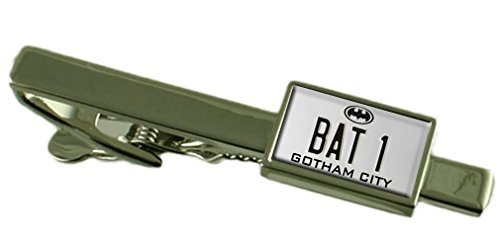 Batman Bat 1 Nummernschild Tie Clip graviert Personalisierte Box