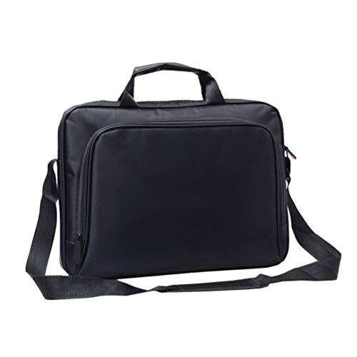 SOLUSTRE Laptop Bag 15.6 Inch, Business Briefcase with Crossbody Shoulder Bag Design for the Business Professional Travel CommuterCase for Computer/Notebook/MacBook,Black