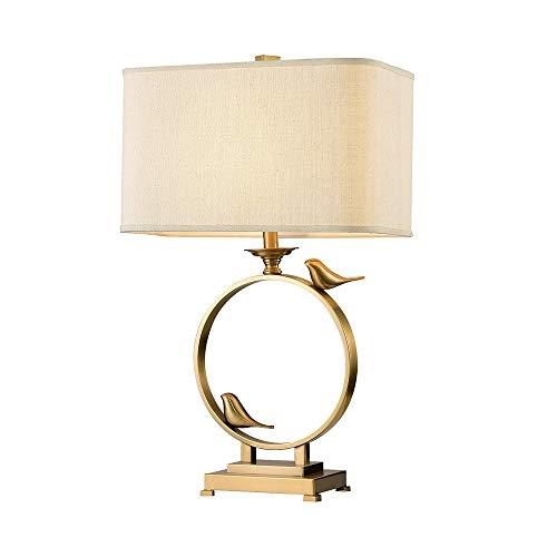 FAGavin Lámpara de mesa clásica personalizada creativa pájaro todo latón lámpara de mesa diseñador dormitorio sala de estar villa decoración lámpara de mesa