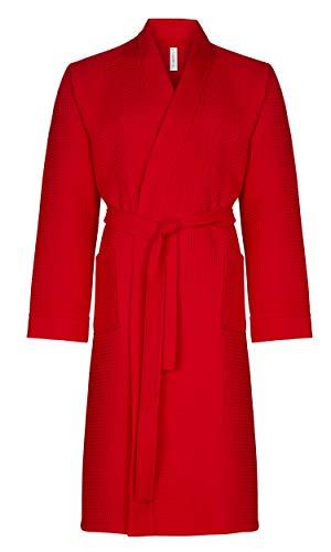 Taubert - Thalasso - Albornoz para hombre de estilo kimono - Piqué - 120 cm de largo rojo XX-Large