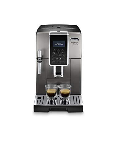 De'Longhi ECAM359.37.TB Macchina da caffè Automatica Dinamica Aroma Bar, 1450 W, Plastica, Titanio/Nero