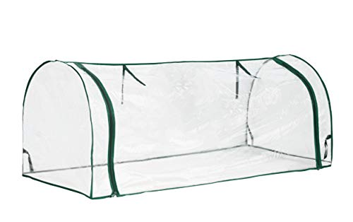 Topline outdoor mini garden greenhouse with zipper openings cover replacement - 51 inch 2 protect your plants - a small greenhouse can prevent cold weather damage and preserve warmth and sunlight for plants; planting season all year around, and suitable for maintaining plants or seed breeding