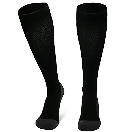 DANISH ENDURANCE Graduated Compression Socks (Black 1 Pair, US Women 5-7 // US Men 3.5-6)