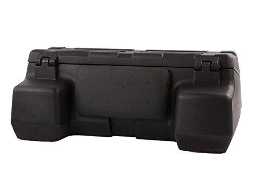 150l universal Quad ATV Heck Koffer wetterfest aus LLDPE Kunststoff (stoßfest) Lehne mit Rückenpolster, Transport Heckkoffer abschließbar mit großer Ladeöffnung, Topcase inkl. Befestigungsmaterial