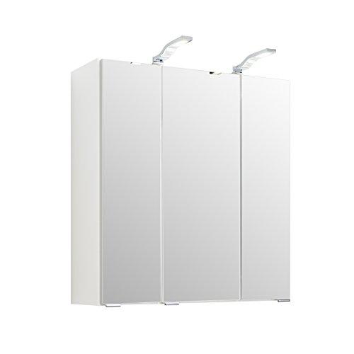 Held Möbel Multi Spiegelschrank, Holzwerkstoff, Weiß, 20 x 60 x 64 cm