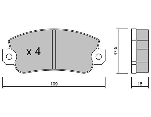 metelligroup 22-0033-0 - Bremsbeläge, Made in Italy, Ersatzteile für Autos, ECE R90-zertifiziert, Kupferfrei