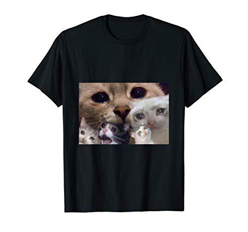 Crying Cat meme Shirt Sad cat T-Shirt