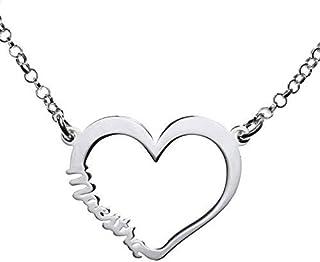 Collar Corazón para maestra Plata de Ley 925 - Regalos para maestras originales
