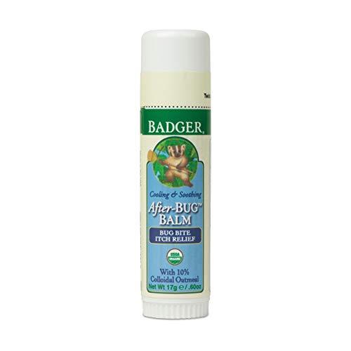 Badger - After Bug Balm Stick, Organic Anti-Itch Balm, Bug Bite Relief Stick, Itch Balm Stick, Itch Relief Balm, After Bite Balm, Mosquito Bite Relief, 0.6 oz