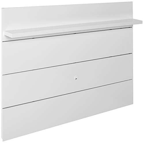 Manhattan Comfort Cabrini 1.8 Panel Collection Floating Wall TV Panel TV Wall Mount with Shelf, 71.25' L x 8.46' D x 94.35' H, White