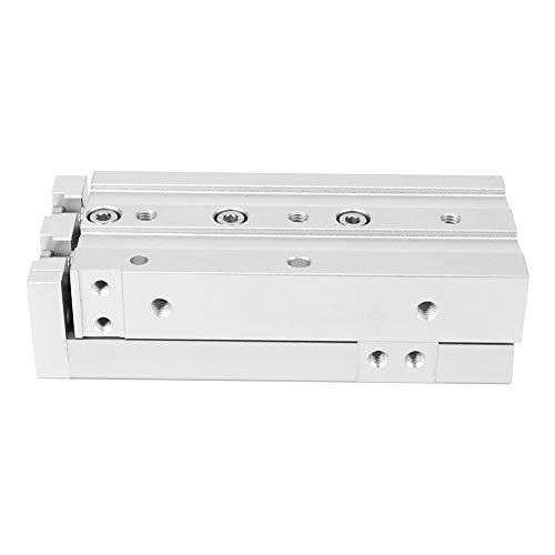 Aoutecen Cilindro de Aire Riel guía Cilindro Anillos magnéticos Cilindro de Mesa Deslizante Doble Efecto para Equipos industriales para Equipos de impresión(MXS12-10)