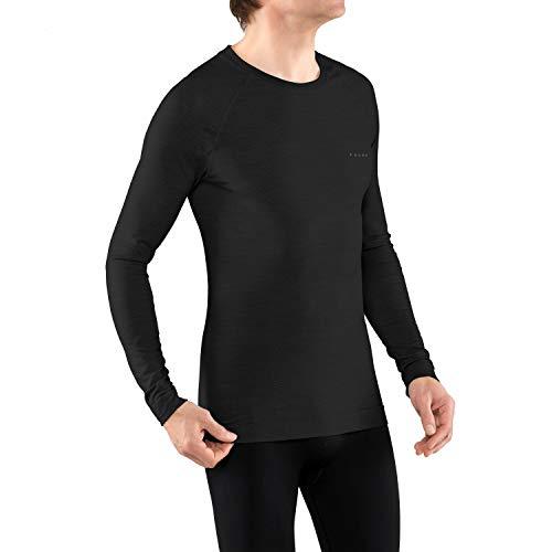 FALKE Herren Wool-Tech Light Langarmshirt, Black, L