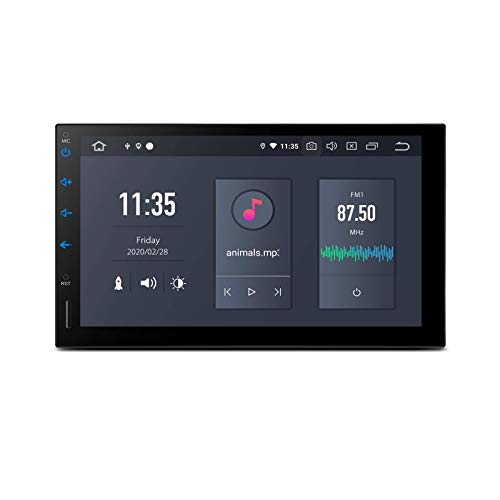 KAUTO PX6 Android 10 Autoradio Bluetooth 5.0 2 DIN Radio con Touch Screen da 7 Pollici 4 GB di RAM 64 GB Rom Supporto per Lettore di Navigazione GPS Uscita HDMI WiFi 4K Video MirrorLink Universale -