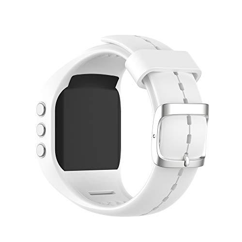 KINOEHOO Correas para relojes Compatible con Polar A300 Pulseras de repuesto.Correas para relojesde siliCompatible cona.(blanco)