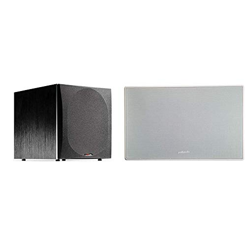 """Polk Audio PSW505 12"""" Powered Subwoofer - High Precision Bass with Extreme Power & Wide Soundstage 