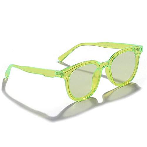 ZZOW Gafas De Sol Redondas De Moda De Color Caramelo para Mujer, Gafas De Sol Verdes Fluorescentes Vintage para Hombre, Gafas De Sol De Tendencia Femenina, Sombras Uv400