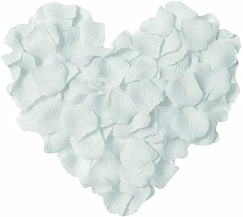 huaao 3000 petali di rosa romantici per matrimonio, decorazione romantica per San Valentino, fidanzamento, compleanno, anniversario, bianco