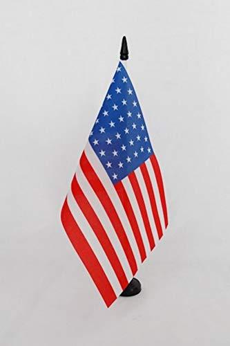 AZ FLAG Bandera de Mesa de Estados Unidos 1891-1896 44 Estrellas 21x14cm - BANDERINA de DESPACHO Americana HISTORICA 14 x 21 cm
