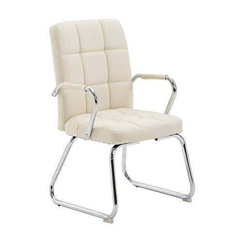 JIEER-C stoel voor de tijd Libero, bureaustoel, draaibare stoel, van staal, vaste armleuningen, tafelstoel, 4 kleuren Bow-shaped Wit.
