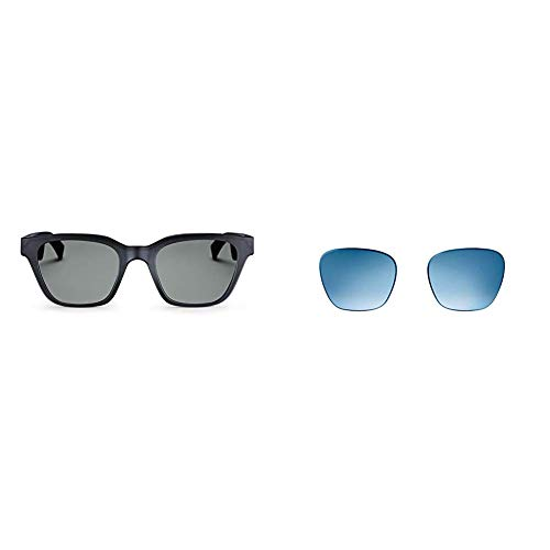 Bose Frames - Audio Sunglasses with Open Ear Headphones, Black, with Bluetooth Connectivity with a Gradient Blue Replacement Lens