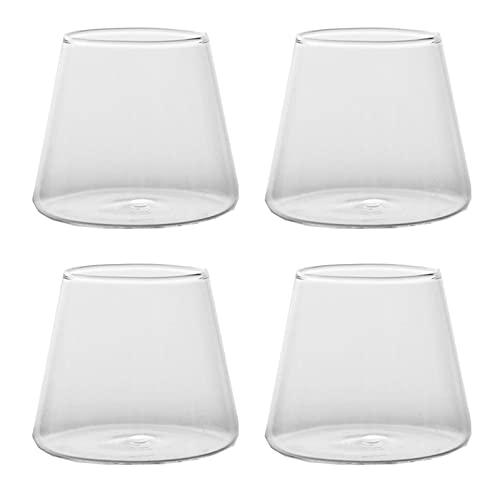 YDZB 4 vasos de whisky sin plomo, vasos transparentes de cristal, taza...