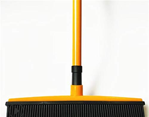 Limpiar Sweeper SCRAEGEE Bristle Push Push Broom Escoba de Goma Escoja de Pelusa Dispositivo de eliminación Telescópicas (Color : Orange)