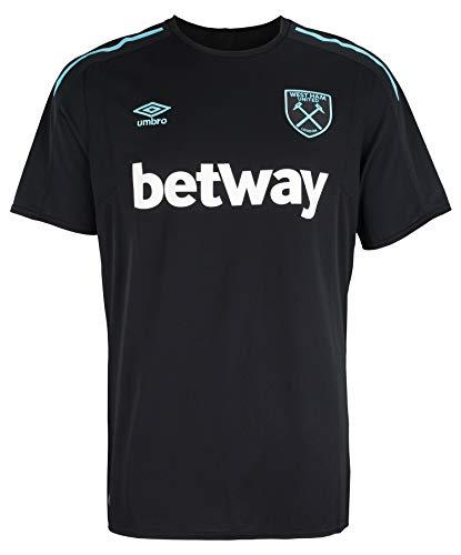 Umbro Men's Premier League West Ham United F.C. Replica Soccer Jersey, Black XL