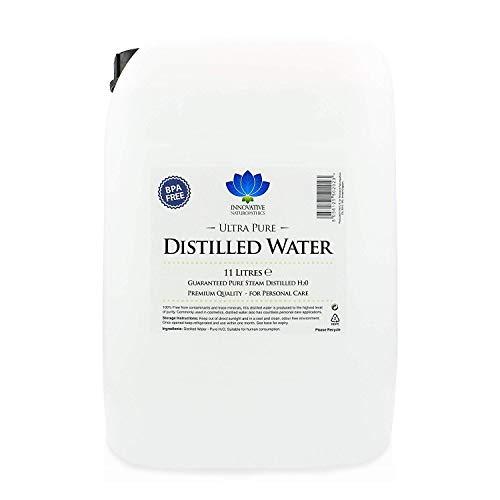 Agua destilada, 11 litros, vapor ultrapuro destilado, 0 ppm