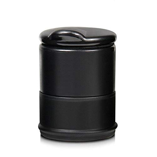 Brilliant Classy and Luxurious Design 1Pc Portable Storage Black Trash Bin Dust Garbage Car Ashtray Cigarette Smoke Holder for Car Interior Accessories Auto Ashtray Best CAR Ashtray (Color : 1Pc)